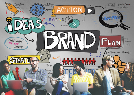 Strategia di branding Brand Marketing Creative Concept