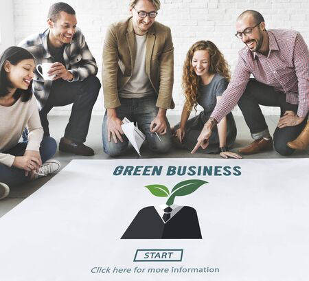 responsibility: Green Business Responsibility Conservation Nature Concept Stock Photo