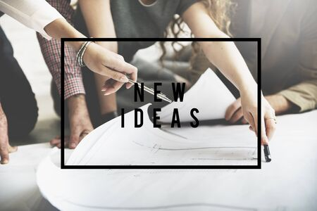 breaking new ground: New Ideas Start up Innovation Creative Concept Stock Photo