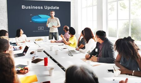 boardroom: Business Update Graph Chart Graphics Concept