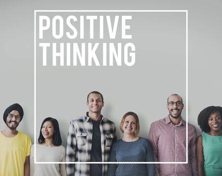 optimism: Positive Thinking Optimism Attitude Mindset Concept Stock Photo