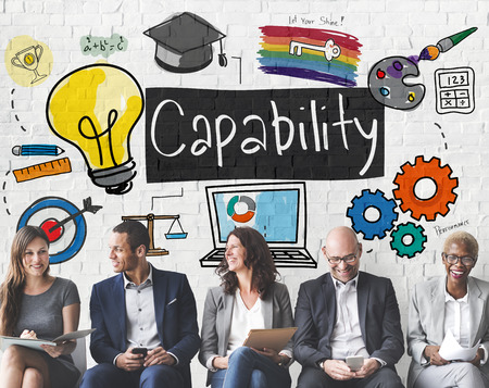 capability: Ability Achievement Inspiration Improvement Capability Cocnept Stock Photo