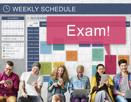remember: Exam Schedule Education Planning Remember Concept