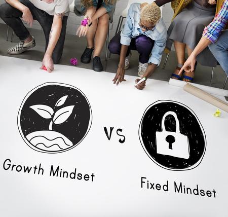 positivity: Mindset Opposite Positivity Negativity Thinking Concept