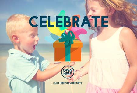 enjoyment: Celebrate Anniversary Enjoyment Event Happiness Concept Stock Photo