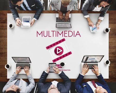 audio video: Multimedia Digital Entertainment Audio Video Concept