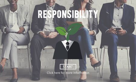corporate responsibility: Responsibility Roles Task Obligation Duty Responsible Concept