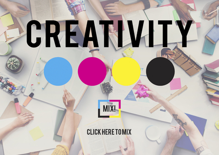 creating: Creativity Color Imagination Creating Process Concept Stock Photo