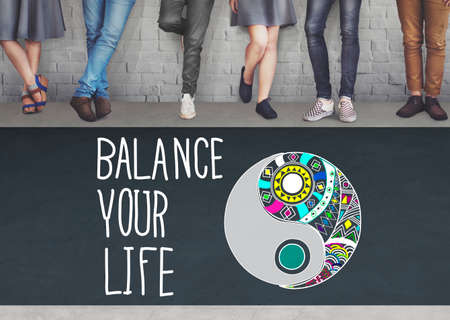 stability: Balance Your Life Stability Work-Life Concept Stock Photo