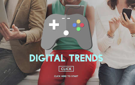 technology trends: Gaming Fun Digital Trends Technology Online Concept