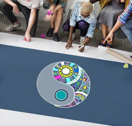 creative force: Yin Yang Balance Creativity Religion Concept