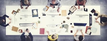 Bedrijfsmensen die Besprekings het Werk Concept ontmoeten