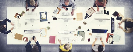 Concepto de Trabajo Discusión Los hombres de negocios Reunión Foto de archivo - 55670921
