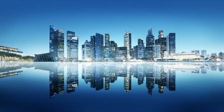 corporate buildings: Building Reflect Bay Modern Business Office Concept