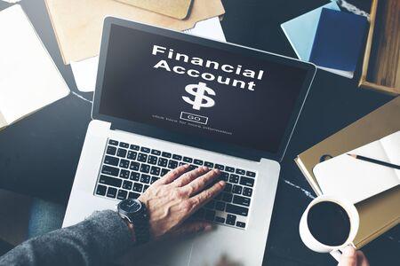 digital asset management: Financial Account Dollar Sign Go Concept