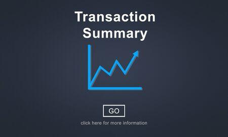 summary: Transaction Summary Budget Balance Account Concept Stock Photo