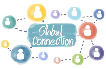 global connection: Domain Homepage HTML Links Global Connection Concept