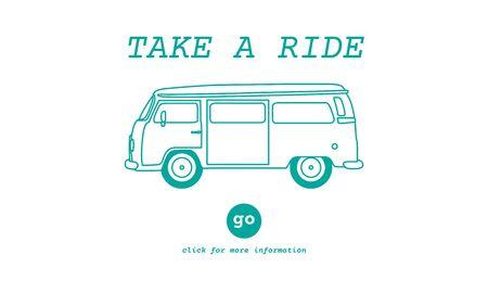 destination: Take a Ride Traveling Adventure Journey Destination Van Concept