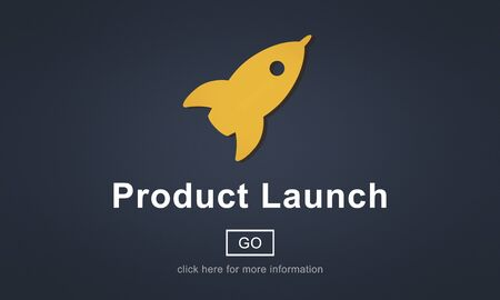 initiate: New Product Launch Marketing Commercial Innovation Concept Stock Photo
