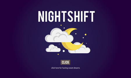 Nightshift Business Laptop People Time Work Concept