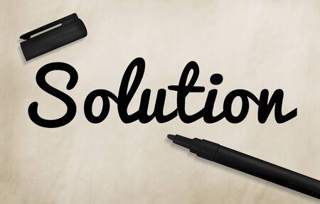 solution: Solution Solution Advertise Progress Information Concept
