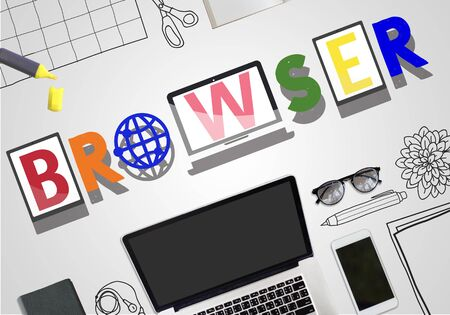 sep: Browser Search Engine Online Technology Concept Stock Photo