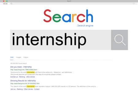 unpaid: Internship Skills Temporary Management Trainee Concept Stock Photo