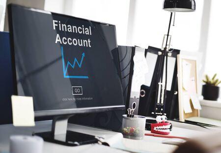 Finanzkonto Geld-Bargeld-Wachstumsanalyse Konzept