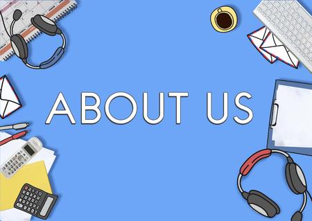 About Us Company Profile Information Concept Zdjęcie Seryjne