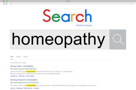 homeopatia: Homeopathy Medicine Minute Doese Treatment Concept