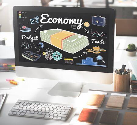 spending: Economy Budget Trade Spending Money Concept Stock Photo