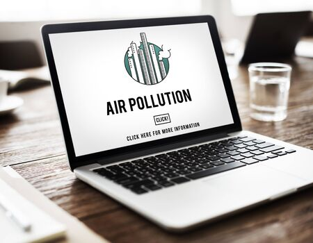 dioxide: Air Pollution Carbon Dioxide Dirty Energy Toxic Concept Stock Photo