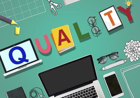 Quality Standard Value Staat gegarandeerd Concept