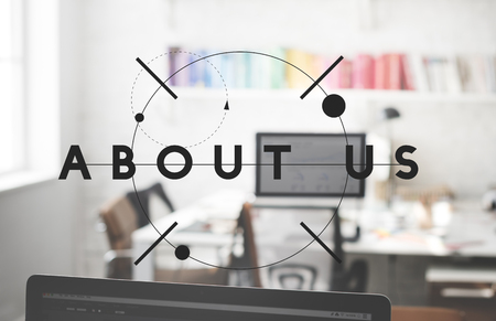about us: About Us Information Service Sharing Join Concept Stock Photo