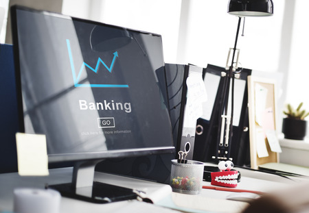 Online banking concept Stok Fotoğraf - 108975145
