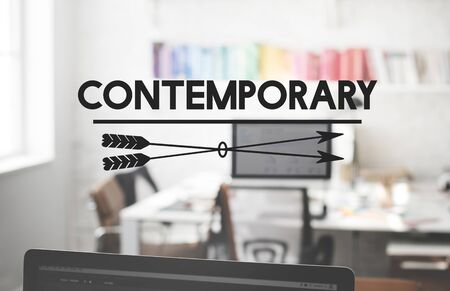 recent: Contemporary New Modern Recent Style Concept Stock Photo