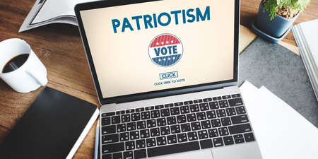 electronic voting: Patriotism Country Election Freedom National Concept Stock Photo