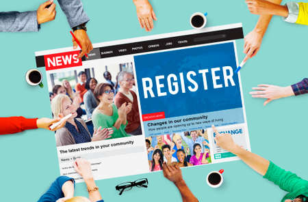 registry: Register Registry Membership Application Apply Concept Stock Photo