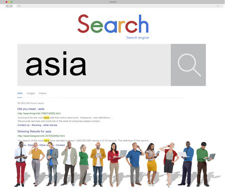 geography: Asia East Continent Geography Location Concept Stock Photo