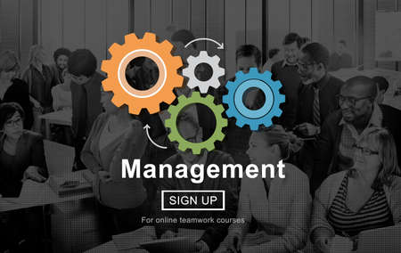 team leadership: Management Business Strategy Homepage Concept