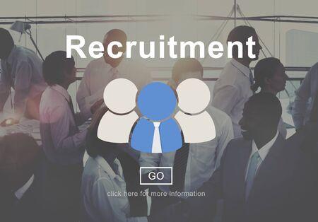 manpower: Recruitment Manpower Occupation Skills Staff Concept Stock Photo