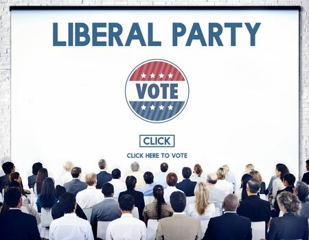 libertarian: Liberal Party Election Vote Democracy Concept Stock Photo
