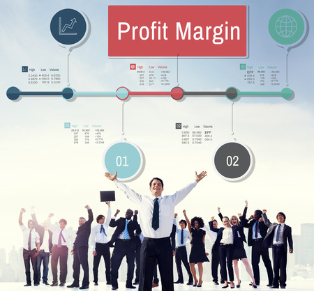 winning stock: Profit Margin Finance Income Revenue Costs Sales Concept