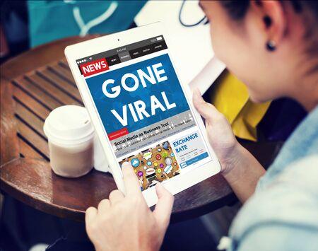 gone: Gone Viral Online Marketing Sharing Concept