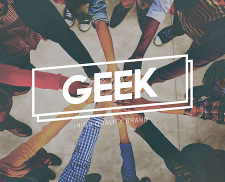 geeky: Geek Funny Geeky Nerd Peculiar Different Awkward Concept