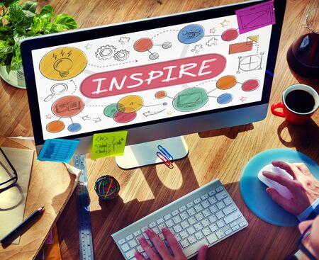 Inspire Aspiration Verwachting Goal Hoopvol Concept