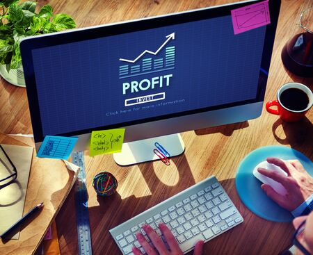 assets: Profit Accounting Benefit Assets Concept Stock Photo