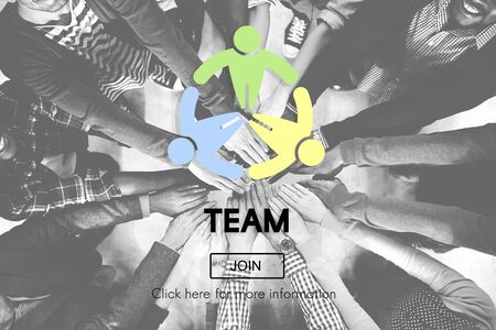black empowerment: Team Teamwork Connection Cooperation Partner Concept Stock Photo