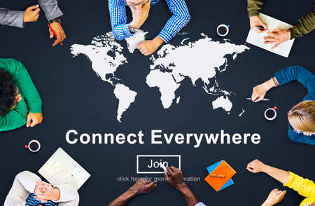 everywhere: Connect Everywhere Networking Access Social Concept Stock Photo