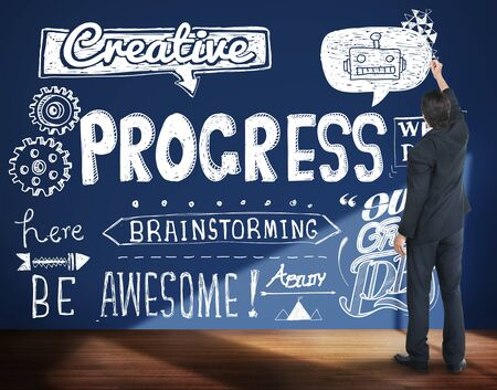 progressive: Progress Improvement Growth Progressive Development Concept Stock Photo